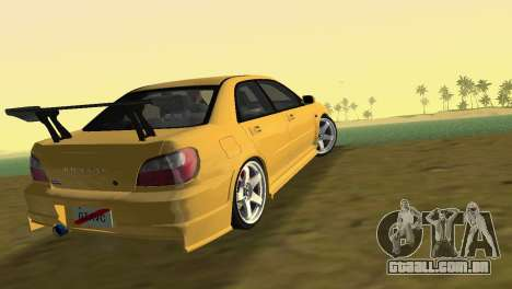 Subaru Impreza WRX 2002 Type 5 para GTA Vice City deixou vista