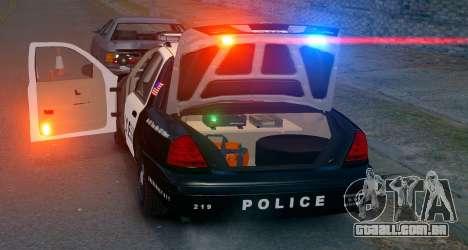 Ford Crown Victoria LCPD [ELS] Pushbar para GTA 4 traseira esquerda vista