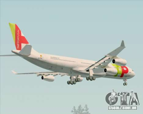 Airbus A340-312 TAP Portugal para GTA San Andreas interior