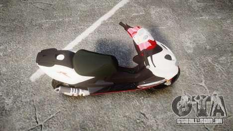 Yamaha Aerox para GTA 4 vista direita
