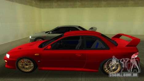 Subaru Impreza WRX STI GC8 22B para GTA Vice City vista traseira esquerda