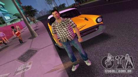 Kockas polo - barna T-Shirt para GTA Vice City