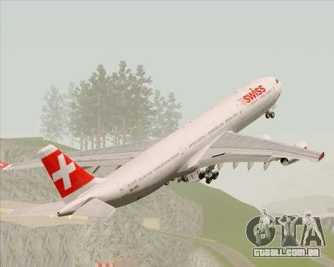 Airbus A340-313 Swiss International Airlines para o motor de GTA San Andreas