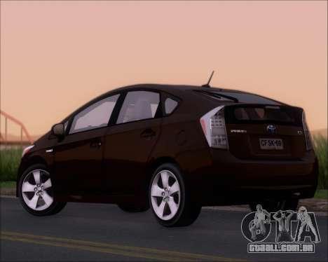 Toyota Prius para GTA San Andreas vista direita
