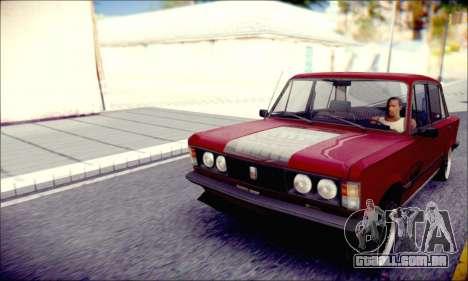 Fiat 125P Shark para GTA San Andreas traseira esquerda vista