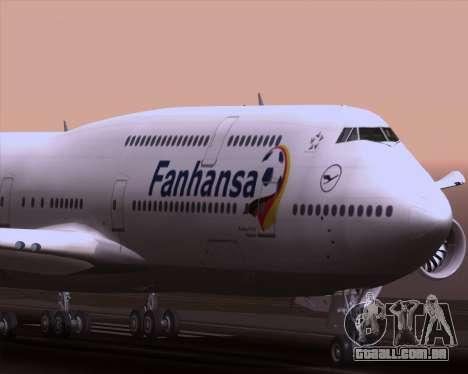 Boeing 747-830 Lufthansa - Fanhansa para GTA San Andreas vista superior