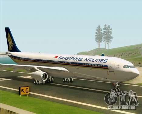 Airbus A340-313 Singapore Airlines para GTA San Andreas traseira esquerda vista