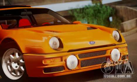 Ford RS200 Evolution 1985 para GTA San Andreas vista superior