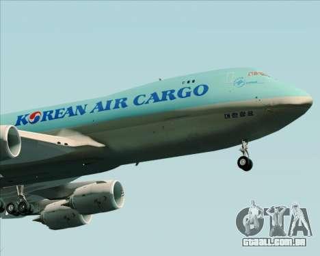 Boeing 747-8 Cargo Korean Air Cargo para GTA San Andreas vista traseira