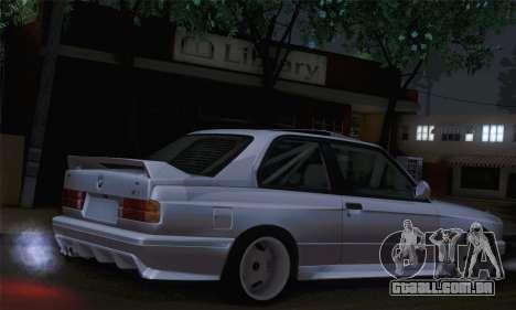 BMW E30 para GTA San Andreas esquerda vista