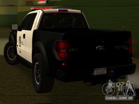LAPD Ford F-150 Raptor para GTA San Andreas esquerda vista