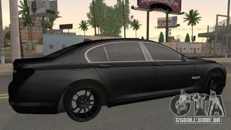BMW 760 para GTA San Andreas esquerda vista