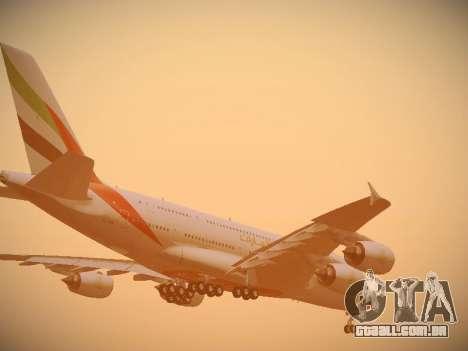 Airbus A380-800 Emirates para o motor de GTA San Andreas