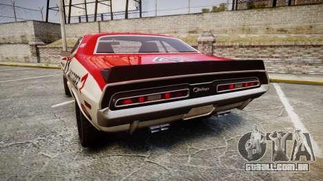 Dodge Challenger 1971 v2.2 PJ7 para GTA 4 traseira esquerda vista