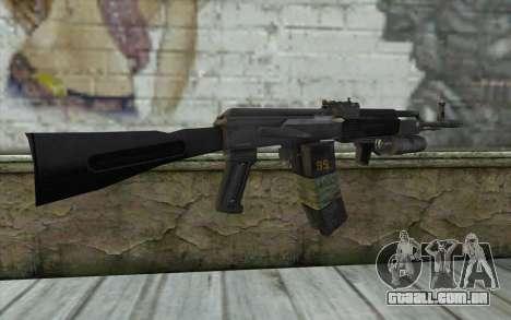 AK-101 com a segurança dos nossos (Battlefield 2 para GTA San Andreas segunda tela