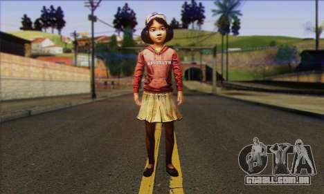 Klementine from Walking Dead para GTA San Andreas