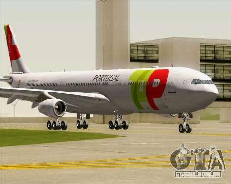 Airbus A340-312 TAP Portugal para GTA San Andreas esquerda vista