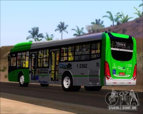 Caio Induscar Millennium BRT Viacao Gato Preto para GTA San Andreas traseira esquerda vista