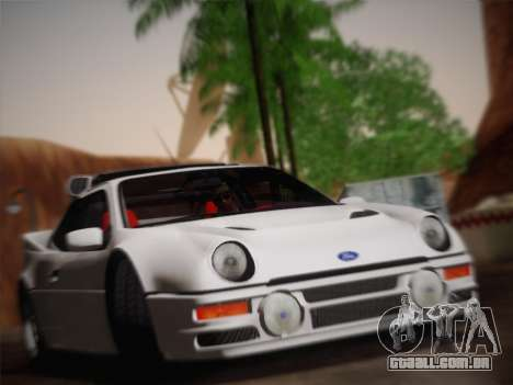 Ford RS200 Evolution 1985 para GTA San Andreas vista traseira