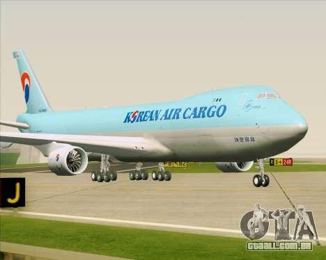 Boeing 747-8 Cargo Korean Air Cargo para GTA San Andreas esquerda vista