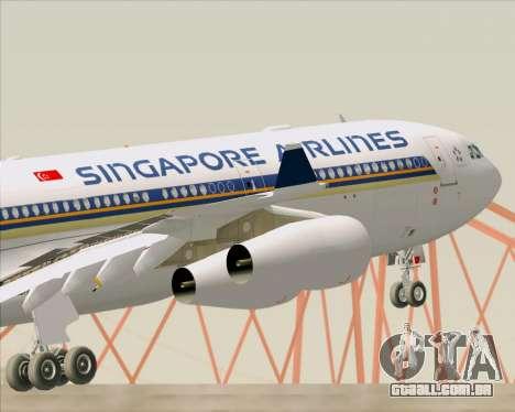 Airbus A340-313 Singapore Airlines para as rodas de GTA San Andreas