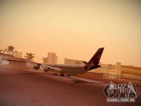 Airbus A340-600 Qatar Airways para GTA San Andreas vista direita
