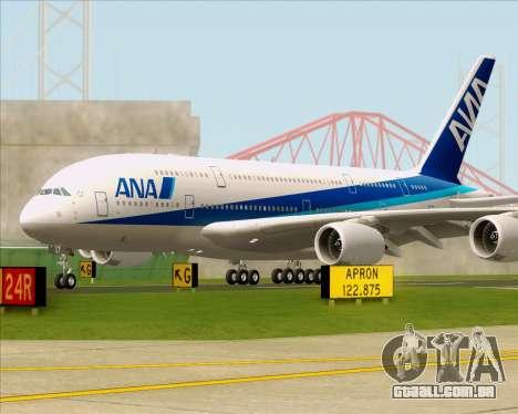 Airbus A380-800 All Nippon Airways (ANA) para GTA San Andreas vista traseira