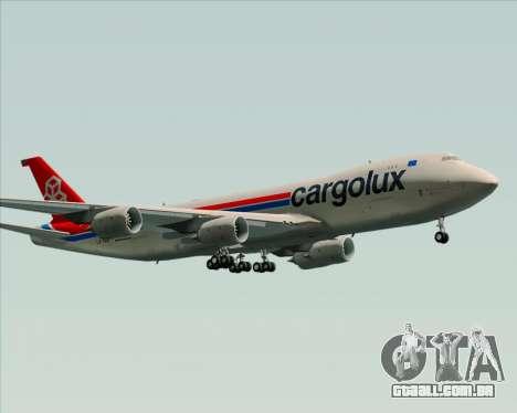 Boeing 747-8 Cargo Cargolux para GTA San Andreas vista superior