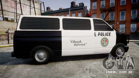Declasse Burrito Police para GTA 4 esquerda vista