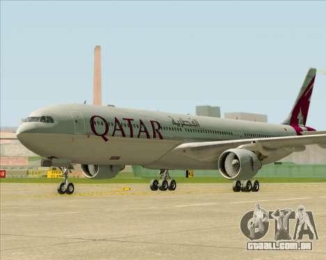 Airbus A330-300 Qatar Airways para GTA San Andreas traseira esquerda vista