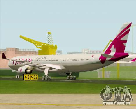 Airbus A330-300 Qatar Airways para GTA San Andreas vista direita