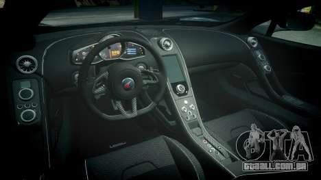 McLaren 650S Spider 2014 [EPM] Michelin v4 para GTA 4 vista interior