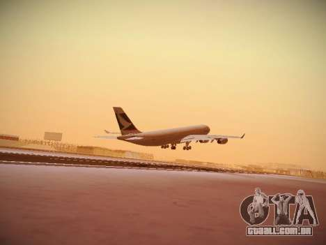 Airbus A340-300 Cathay Pacific para GTA San Andreas vista interior