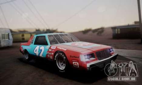 Buick Regal 1983 para GTA San Andreas interior