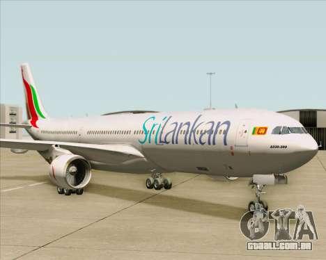 Airbus A330-300 SriLankan Airlines para GTA San Andreas esquerda vista