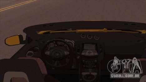 Nissan 370Z Roadster para GTA San Andreas traseira esquerda vista