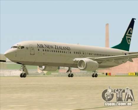 Boeing 737-800 Air New Zealand para GTA San Andreas vista traseira