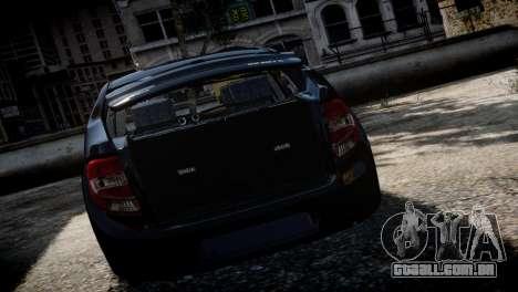 Lada Granta para GTA 4 vista de volta