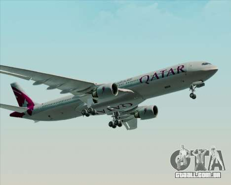 Airbus A330-300 Qatar Airways para GTA San Andreas vista traseira