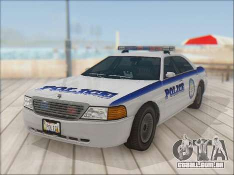 Admiral Police para GTA San Andreas vista traseira