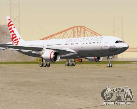 Airbus A330-200 Virgin Australia para GTA San Andreas esquerda vista
