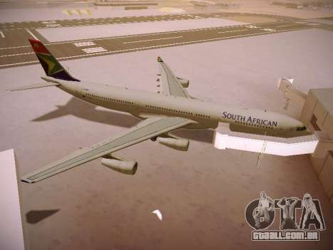 Airbus A340-300 South African Airways para GTA San Andreas vista inferior