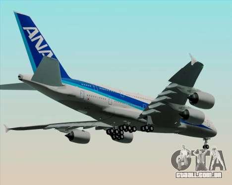 Airbus A380-800 All Nippon Airways (ANA) para GTA San Andreas vista interior
