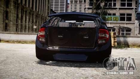 Lada Granta para GTA 4 vista interior