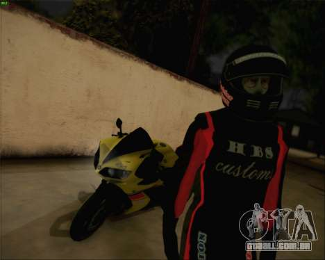 Yamaha R1 HBS Style para GTA San Andreas esquerda vista