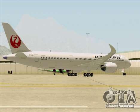 Airbus A350-941 Japan Airlines para GTA San Andreas vista traseira