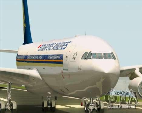 Airbus A340-313 Singapore Airlines para o motor de GTA San Andreas