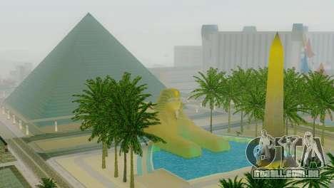 Novas texturas da pirâmide em Las Venturas para GTA San Andreas por diante tela