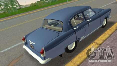 GAZ-21R Volga 1965 para GTA Vice City vista traseira esquerda