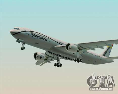 Airbus A330-300 Fly International para GTA San Andreas vista inferior